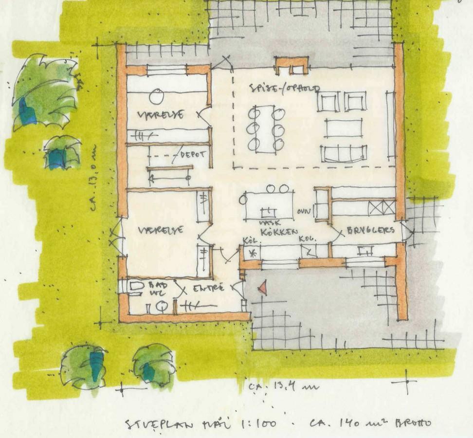 Arkitekt ny villa plantegning Blommenslyst Arkinaut (14)