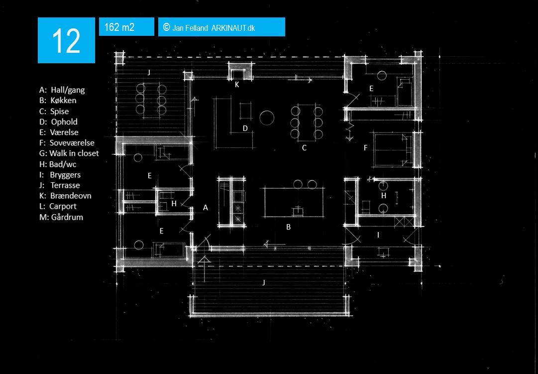Arkitekttegnet hus plantegning 12 Arkinaut Arkitekter ApS