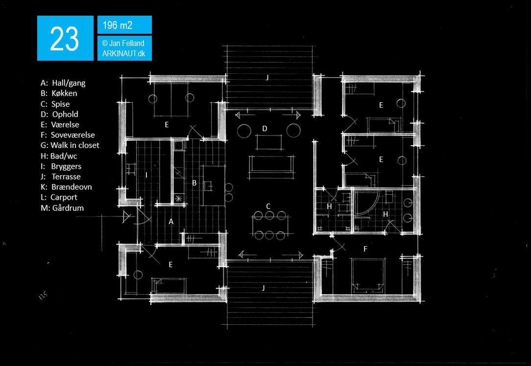 Arkitekttegnet hus plantegning 23 Arkinaut Arkitekter ApS
