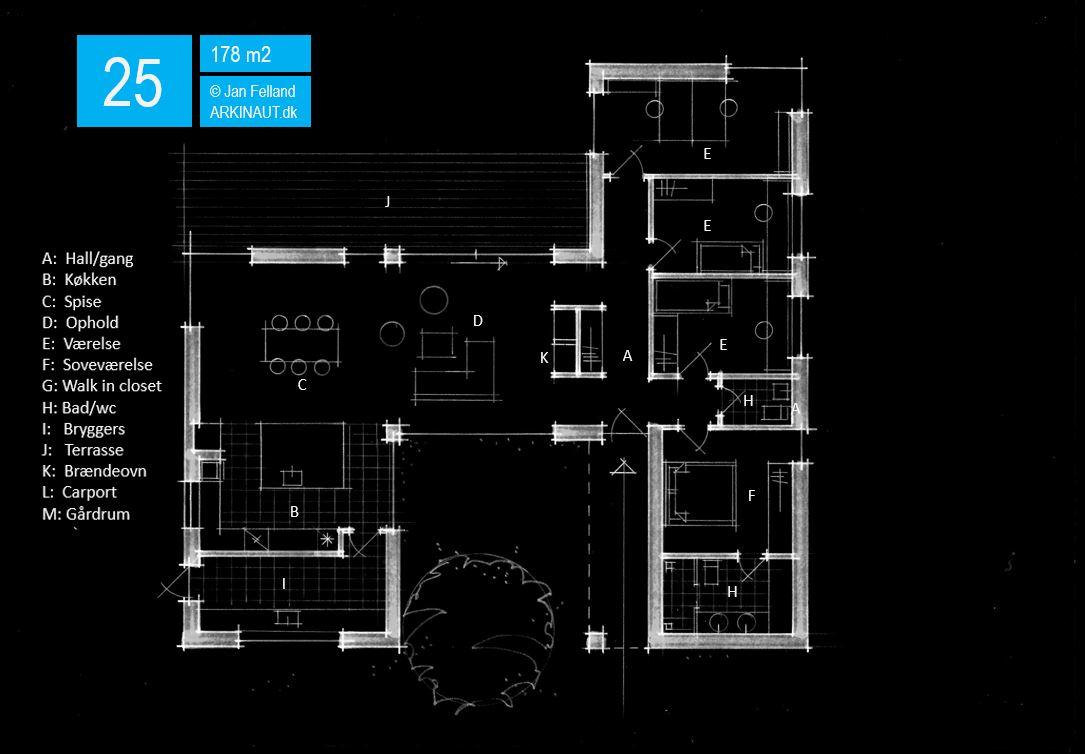 Arkitekttegnet hus plantegning 25 Arkinaut Arkitekter ApS
