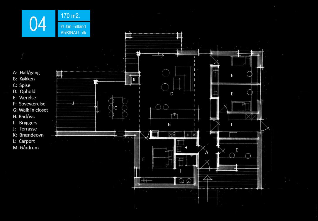 Arkitekttegnet hus plantegning 04 Arkinaut Arkitekter ApS