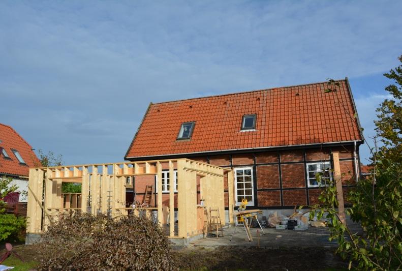 Tilbygning til villa - Foto fra byggeplads - Arkinaut Arkitekt- og Byggerådgivning Aps 1