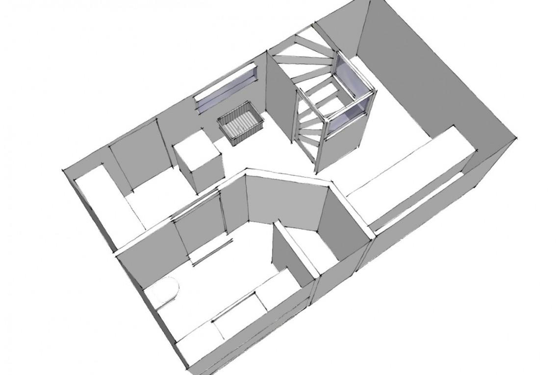 Arkinaut arkitekter: 3D af ny kælder