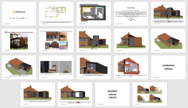 Skitsetegninger eksempel fra Arkinaut Arkitekt- og Byggerådgivning ApS