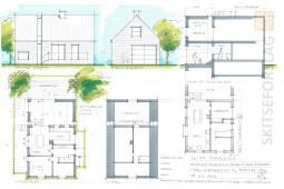 Arkitekt skitse - Tilbygning - Arkinaut Arkitekter ApS