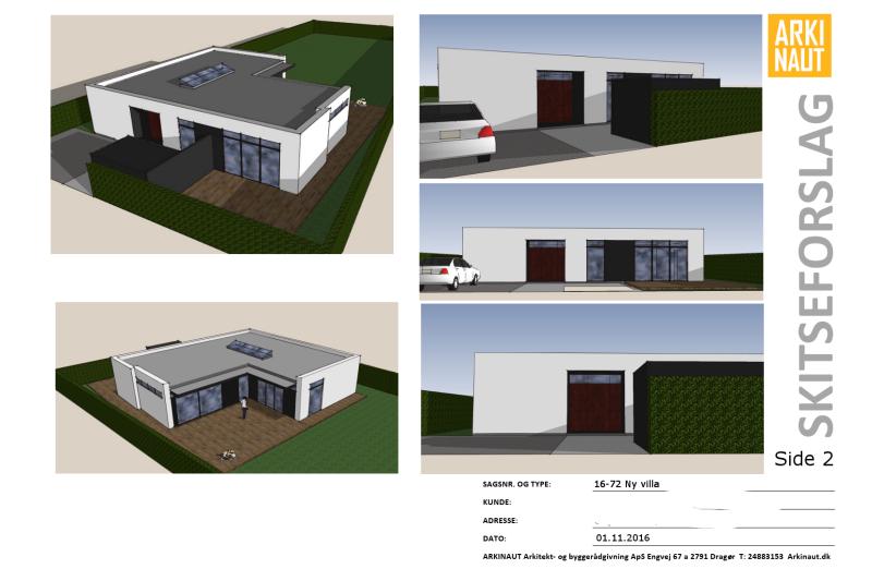 Arkitekttegnet hus - Arkinaut Arkitekt- og byggerådgivning ApS