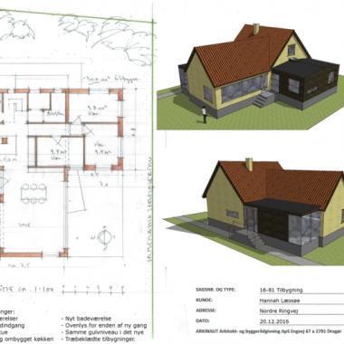 Tilbygning x 2 på samme grund - Arkinaut Arkitekt- og byggerådgivning ApS
