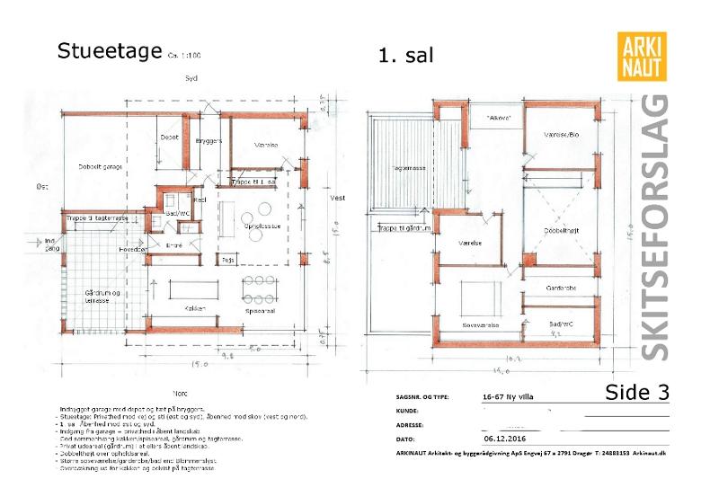 Ny villa plantegning arkitekt Arkinaut Arkitekter ApS