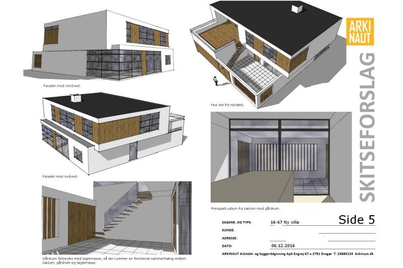 Ny villa arkitekt Arkinaut Arkitekter ApS