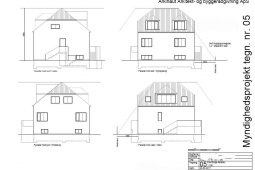 Ny første sal, ansøgning om byggetilladelse tegninger