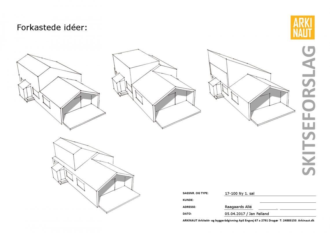 Ny 1. sal på villa - Arkinaut Arkitekt- og byggerådgivning ApS - Skitseforslag