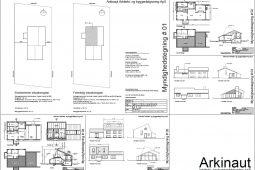 Ny første sal byggetilladelse tegninger Arkinaut ApS