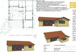 Tilbygning skitse Arkinaut Arkitekt- og byggerådgivning ApS