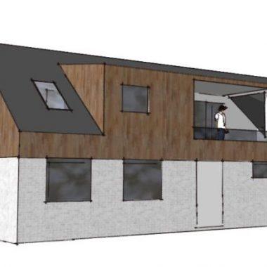 Ny 1. sal på parcelhus - Skitseforslag af Arkinaut Arkitekt- og byggerådgivning ApS