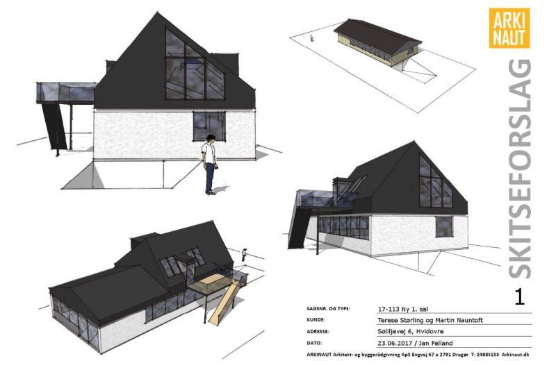 Ny (delvis) første sal på villa - ARKINAUT Arkitekt- og byggerådgivning Aps 2