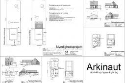 Tilbygning hjælp til byggetilladelse byggeprojekt tegninger arkitekt Arkinaut Aps