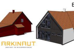 Udvidelse af tagetage, loft, første sal, 1. sal, arkitekt Arkinaut Arkitekt- og byggerådgivning aps