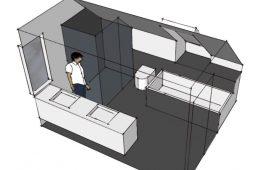 Nyt badeværelse på 1. sal af villa - projekt af Arkinaut Arkitekt- og Byggerådgivning Aps