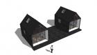 Anneks to med terrasse imellem - Arkinaut Arkitekt- og Byggerådgivning aps