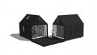 Anneks to i vinkel med terrasse imellem - Arkinaut Arkitekt- og Byggerådgivning aps