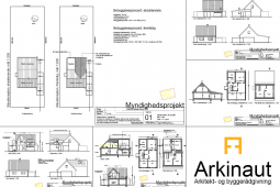 Tegninger til ansøgning om byggetilladelse - Arkinaut Arkitekter Aps