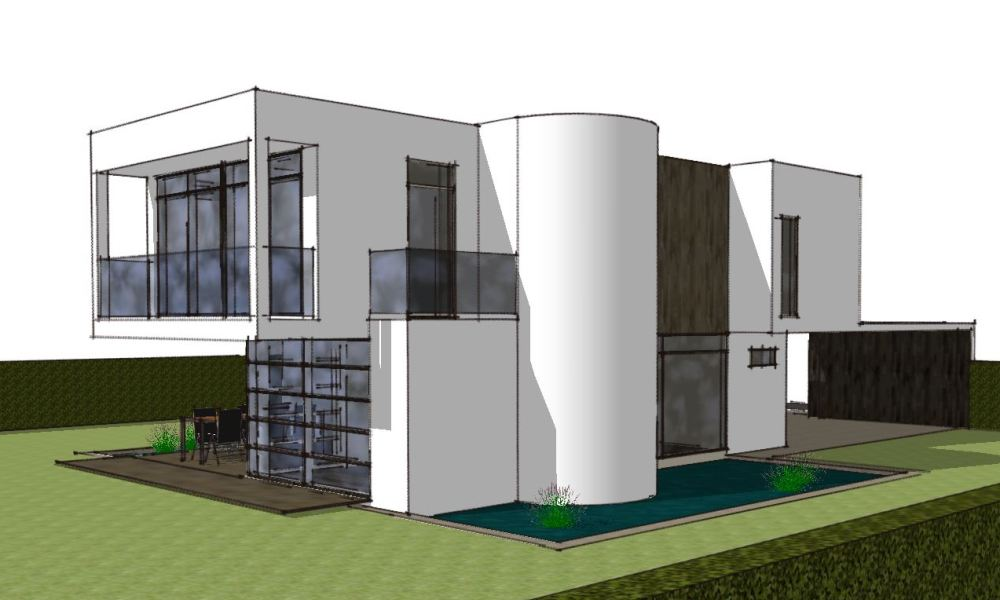 Arkitekttegnet hus - Skitseforslag Arkinaut Arkitekte + Byggerådgivning Aps 01