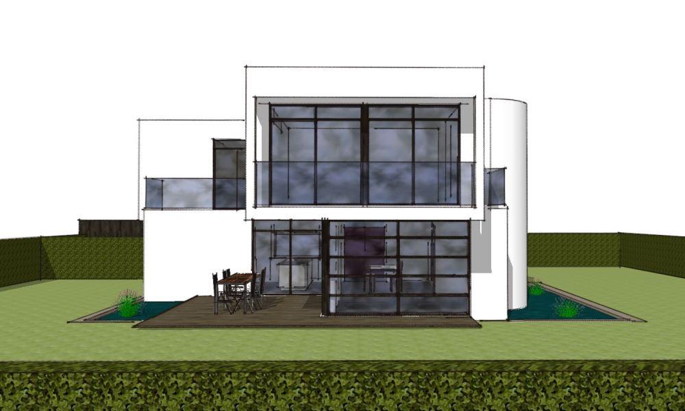 Arkitekttegnet hus - Skitseforslag Arkinaut Arkitekte + Byggerådgivning Aps 02