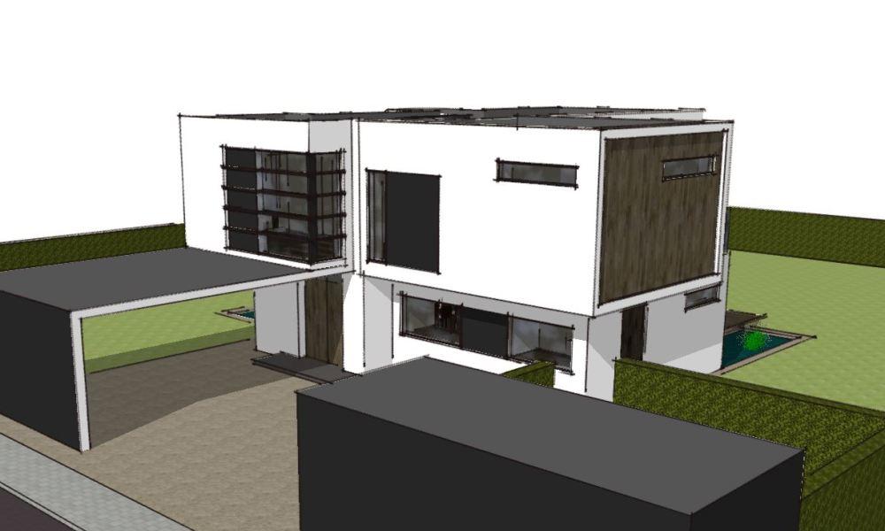 Arkitekttegnet hus - Skitseforslag Arkinaut Arkitekte + Byggerådgivning Aps 04