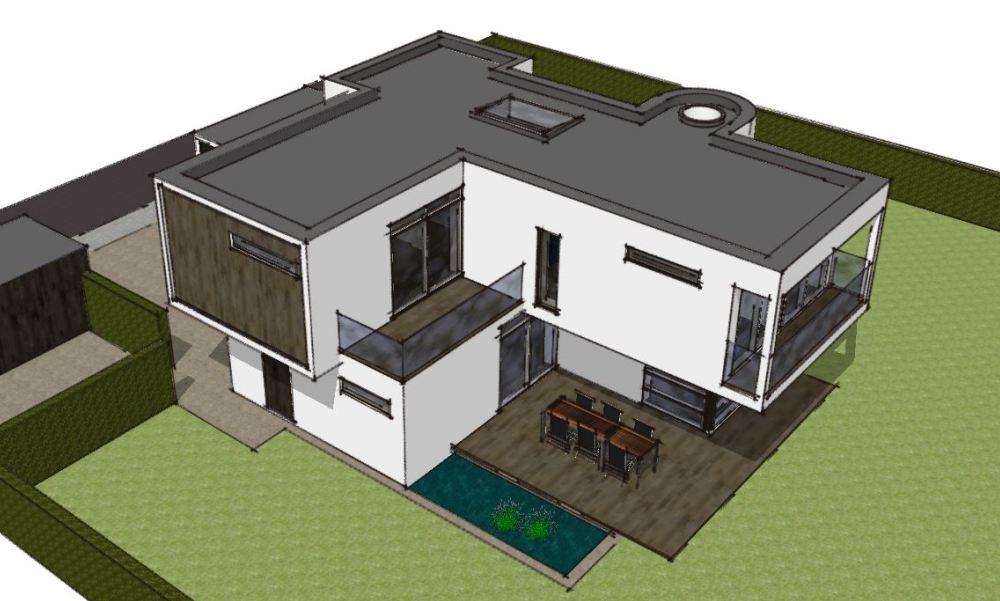 Arkitekttegnet hus - Skitseforslag Arkinaut Arkitekte + Byggerådgivning Aps 05