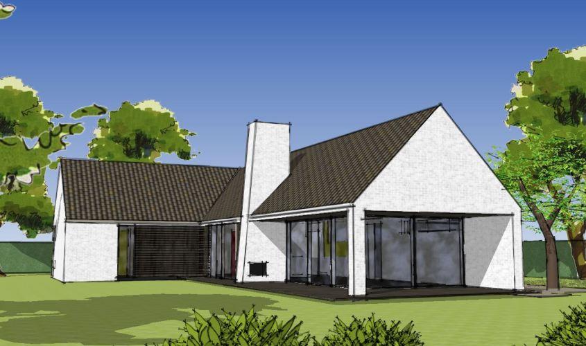 Arkitekttegnet hus - Arkinaut Arkitekt + Byggerådgivning Aps - Villa Dorthea 01