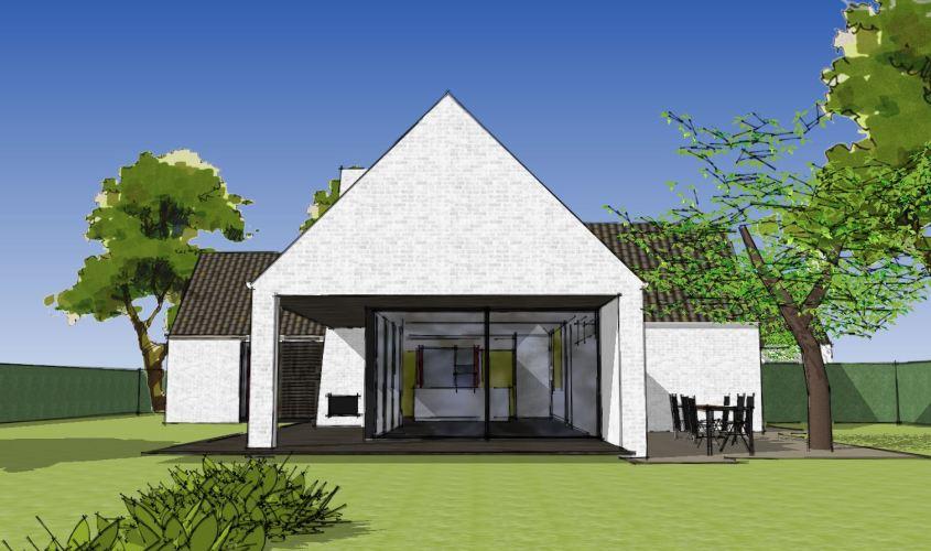 Arkitekttegnet hus - Arkinaut Arkitekt + Byggerådgivning Aps - Villa Dorthea 03
