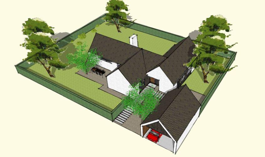 Arkitekttegnet hus - Arkinaut Arkitekt + Byggerådgivning Aps - Villa Dorthea 06
