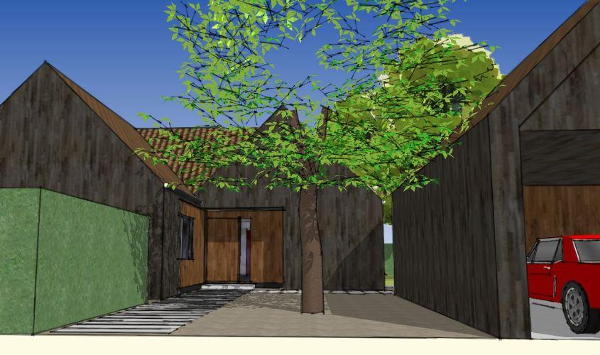 Arkitekttegnet hus - Arkinaut Arkitekt + Byggerådgivning Aps - Villa Dorthea 09