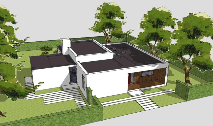 Arkitekttegnet hus - Arkinaut Arkitekt + Byggerådgivning Aps - Villa Ophelia 05