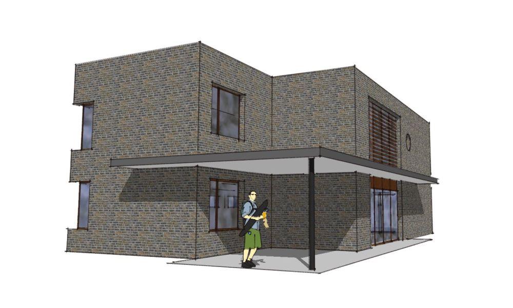 Arkitekttegnet hus - Arkinaut Arkitekt- og Byggerådgivning Aps - Villa Veronica 01