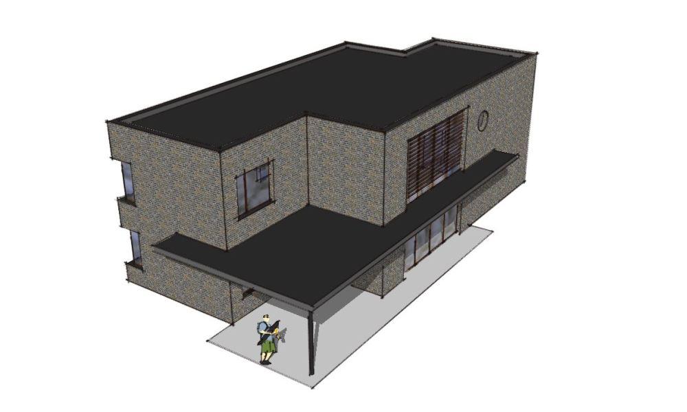 Arkitekttegnet hus - Arkinaut Arkitekt- og Byggerådgivning Aps - Villa Veronica 03