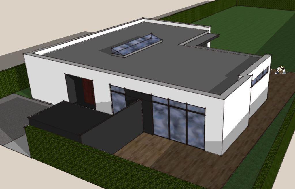 Etplans arkitekttegnet hus - Villa Miranda - Arkunaut Arkitekt- og byggerådgivning Aps 2