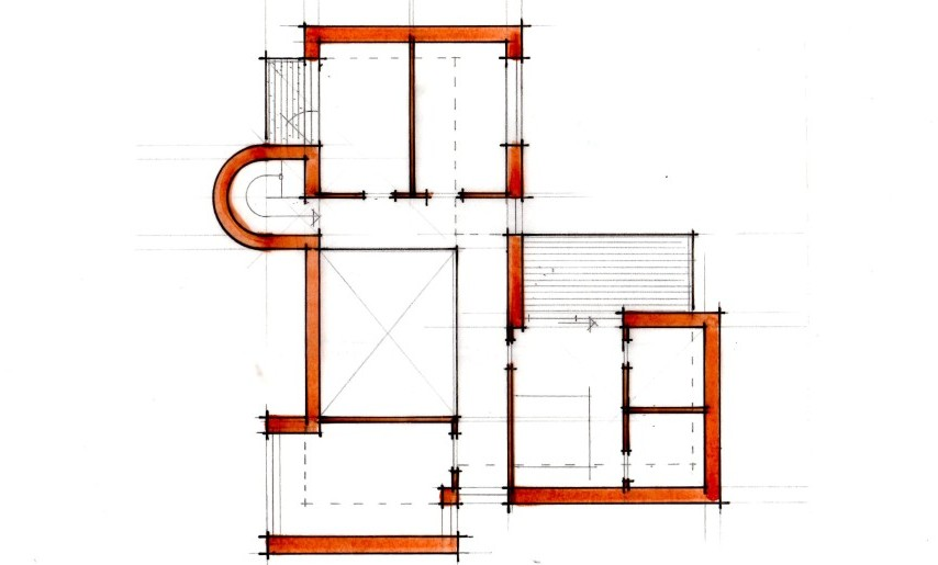 Arkitekttegnet villa - Plan - Arkinaut Aps
