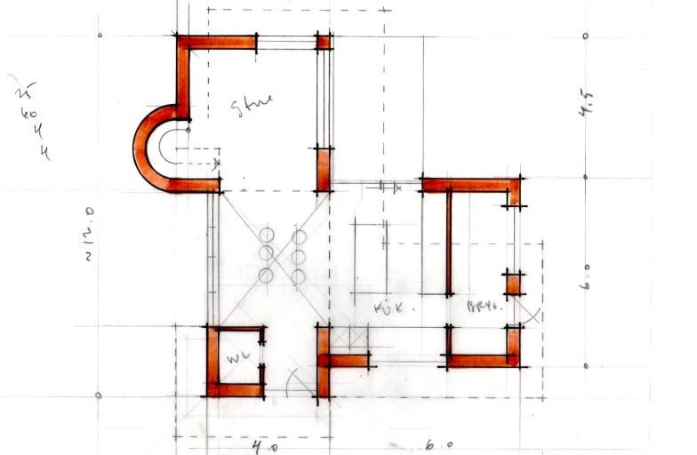 Arkitekttegnet villa - Plan - Arkinaut Aps a