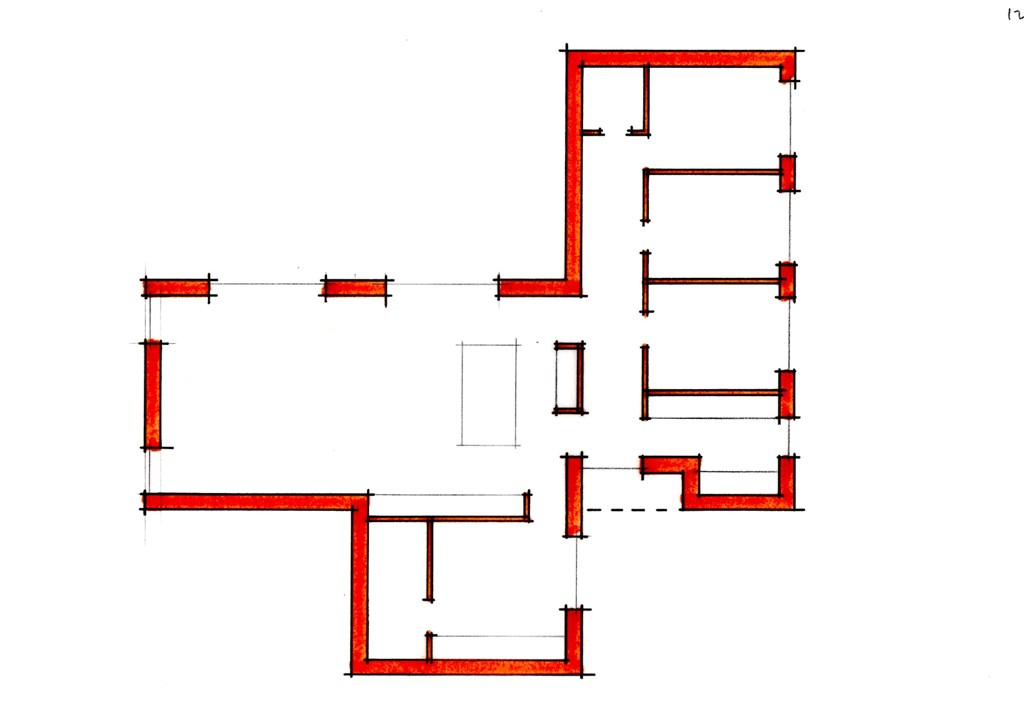 Arkitekttegnet hus - plan af stueetage - Villa Dorthea - Arkinaut Aps