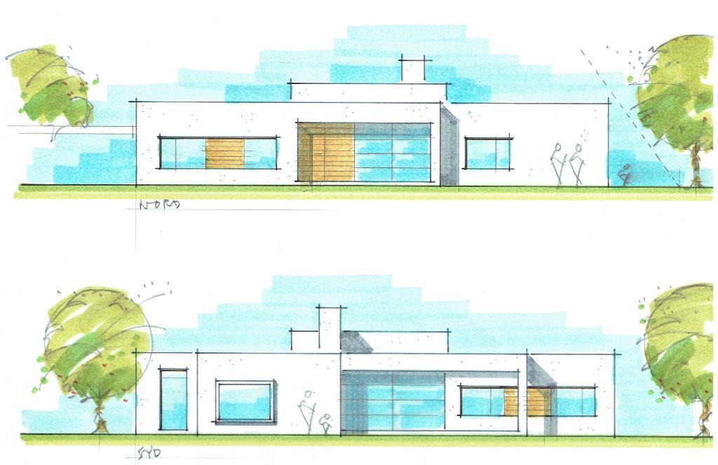 Arkitekttegnet hus, funkisstil - Arkinaut Arkitekt- og byggerådgivning aps 2