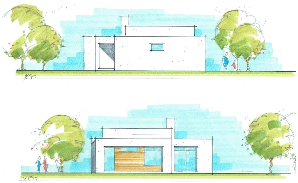 Arkitekttegnet hus, funkisstil - Arkinaut Arkitekt- og byggerådgivning aps 3