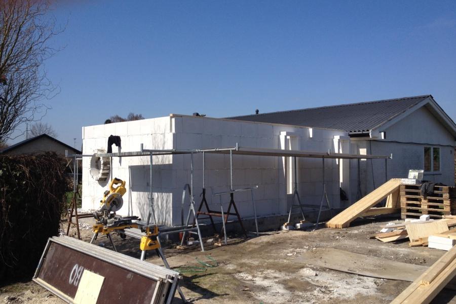 Tilbygning til parcelhus