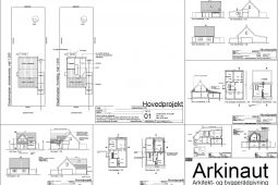 Arbejdstegninger til ny første sal - Arkinaut Aps
