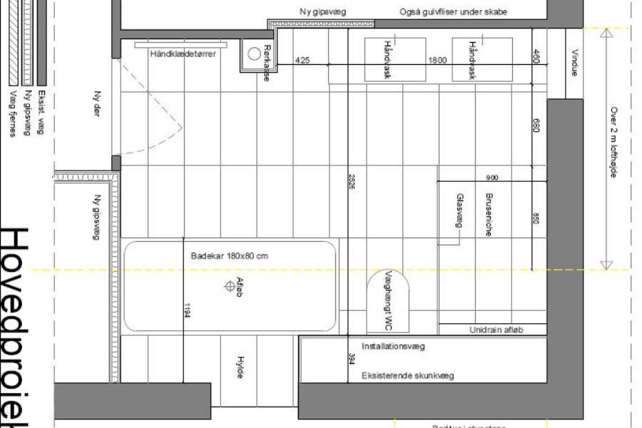 Nyt badeværelse på 1. sal af villa - Arkinaut Arkitekt- og byggerådgivning Aps 02