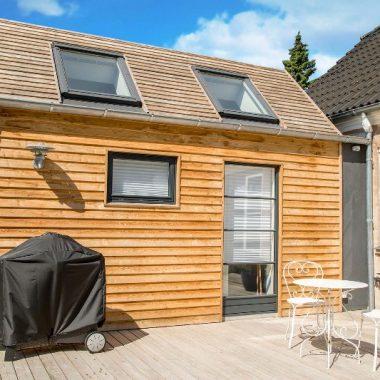 Tilbygning med træ på taget - Arkinaut Arkitekt- og Byggerådgivning Aps 2
