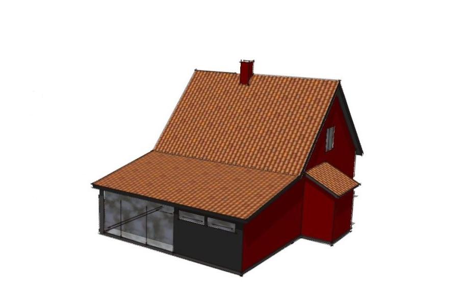 Ny 1. sal på eksist. udbygning - Arkinaut Arkitekt- og byggerådgivning Aps 01