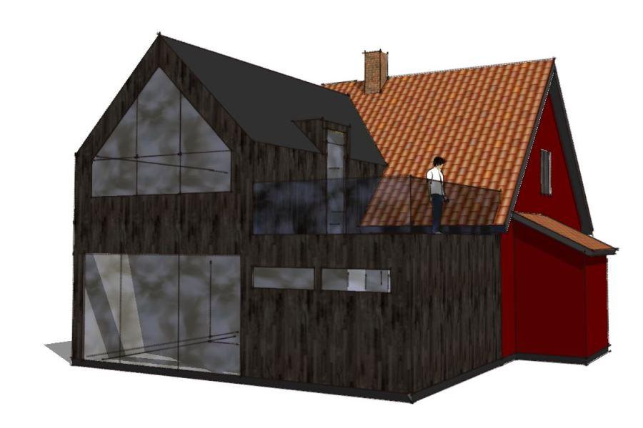 Ny 1. sal på eksist. udbygning - Arkinaut Arkitekt- og byggerådgivning Aps 02
