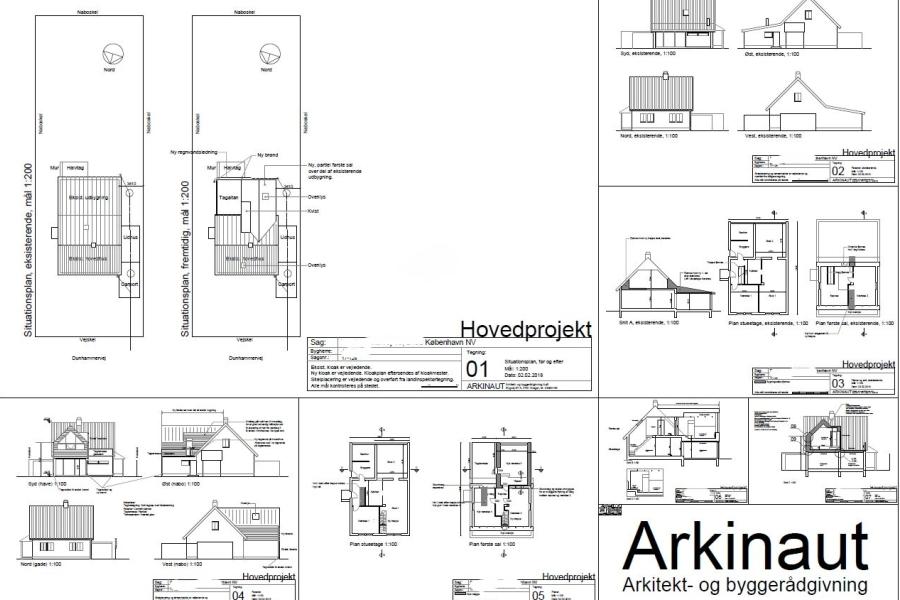 Ny 1. sal på eksist. udbygning - Arkinaut Arkitekt- og byggerådgivning Aps 03