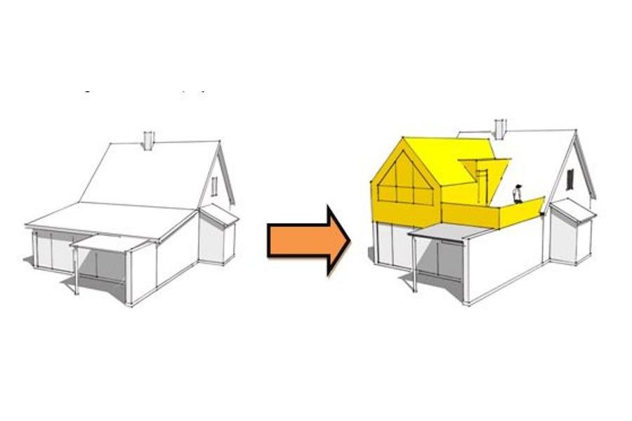 Ny 1. sal på eksist. udbygning - Arkinaut Arkitekt- og byggerådgivning Aps 05